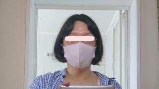 マスクをつけてみた e-goodsカラメル/冷感マスク