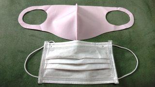 不織布との比較 e-goodsカラメル/冷感マスク