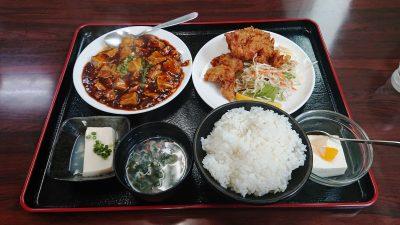唐揚げと麻婆豆腐定食|日中食堂 (八王子みなみ野)