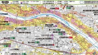 八王子駅周辺のハザードマップ
