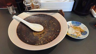 汁なし鶏油そば(完食)|黄金拉麺 鶏のおかげ 八王子みなみ野