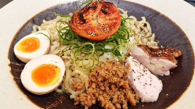 汁なし鶏油そば(アップ)|黄金拉麺 鶏のおかげ 八王子みなみ野