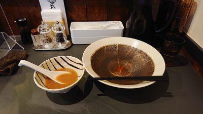 完食!|黄金拉麺 鶏のおかげ 八王子みなみ野