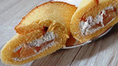 ごろっと白桃ケーキ(断面)|セブンイレブン