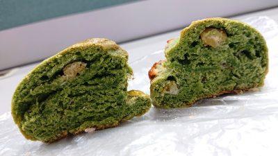 よもぎスコーン(断面) La boulangerie Quignon(キィニョン)
